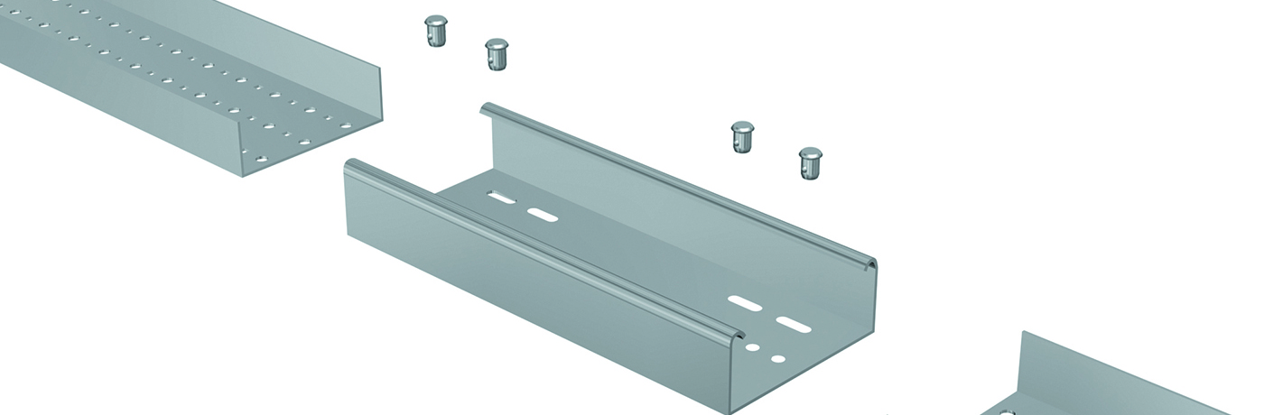 Patented snap-together cable trays designed to reduce total installed costs