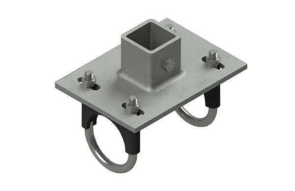 2 1/2 Female Adapter & Square Tube Adapter | TechLine Mfg